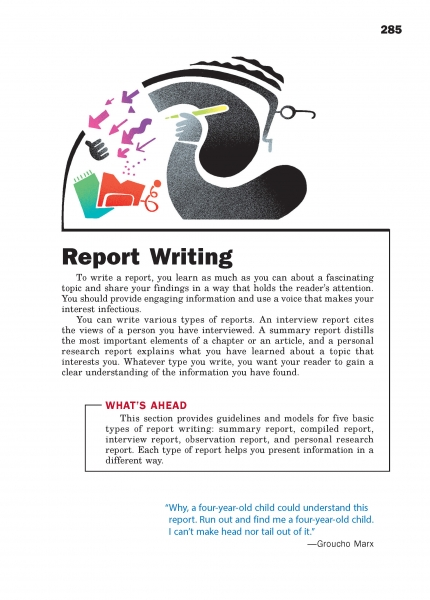 Report Writing Chapter Opener