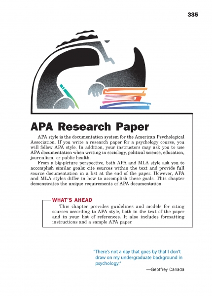 APA Research Paper Chapter Opener