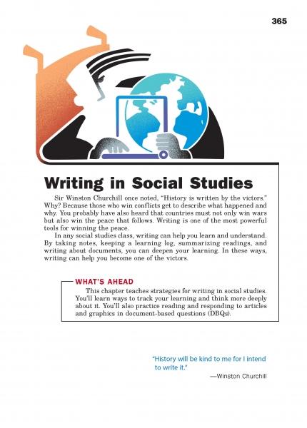 Writing in Social Studies Chapter Opener