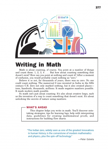 Writing in Math Chapter Opener
