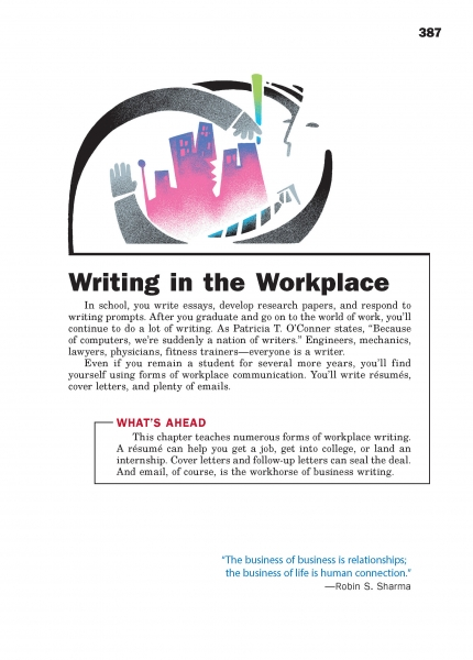Writing in the Workplace Chapter Opener