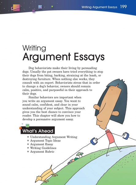 writing argument essays thoughtful learning k  23 writing argument essays page
