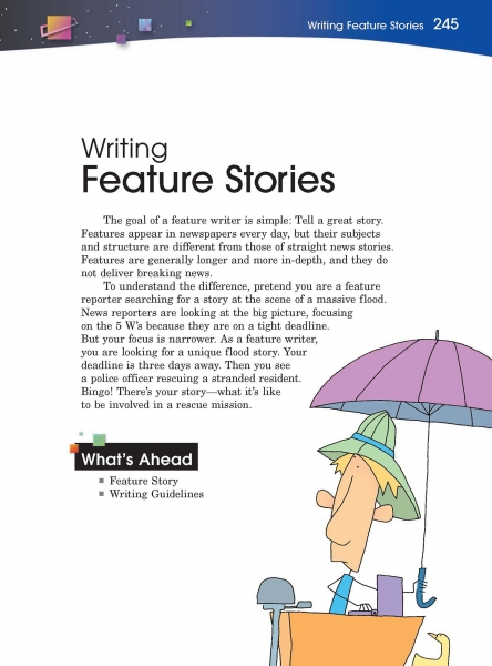 how to write a good feature story