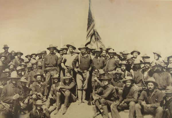Roosevelt and the Rough Riders atop San Juan Hill. Theodore Roosevelt Birthplace National Historic Site.